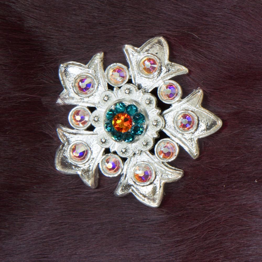 RICH RED WITH SNOWFLAKE CONCHOS